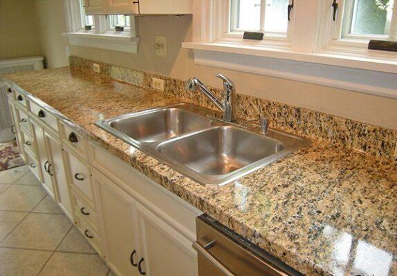 Mẫu đá hoa cương granite ốp bàn bếp đẹp đẹp