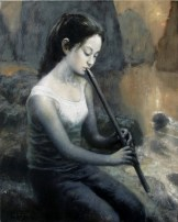 Flute Player - Oil on Linen 24 x 30