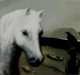 White Horse Valey _ Oil on Canvas 26 x 26