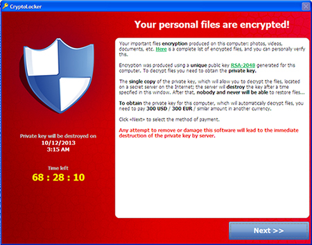 Encryption message (Image: TrendMicro)