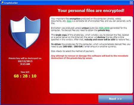 Encryption message (Image: TrendMicro)