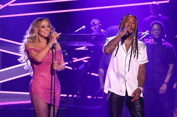 "Watch: Mariah Carey & Ty Dolla $ign ""THE DISTANCE"" On The Tonight Show"