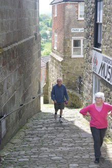 Old cobbled street in Shaftesbury