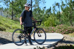 A young rider out on his KHS Flite 24 road bike