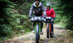 KHS Fat Tire bikes in the woods