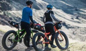 KHS Fat Tire bikes at the summit