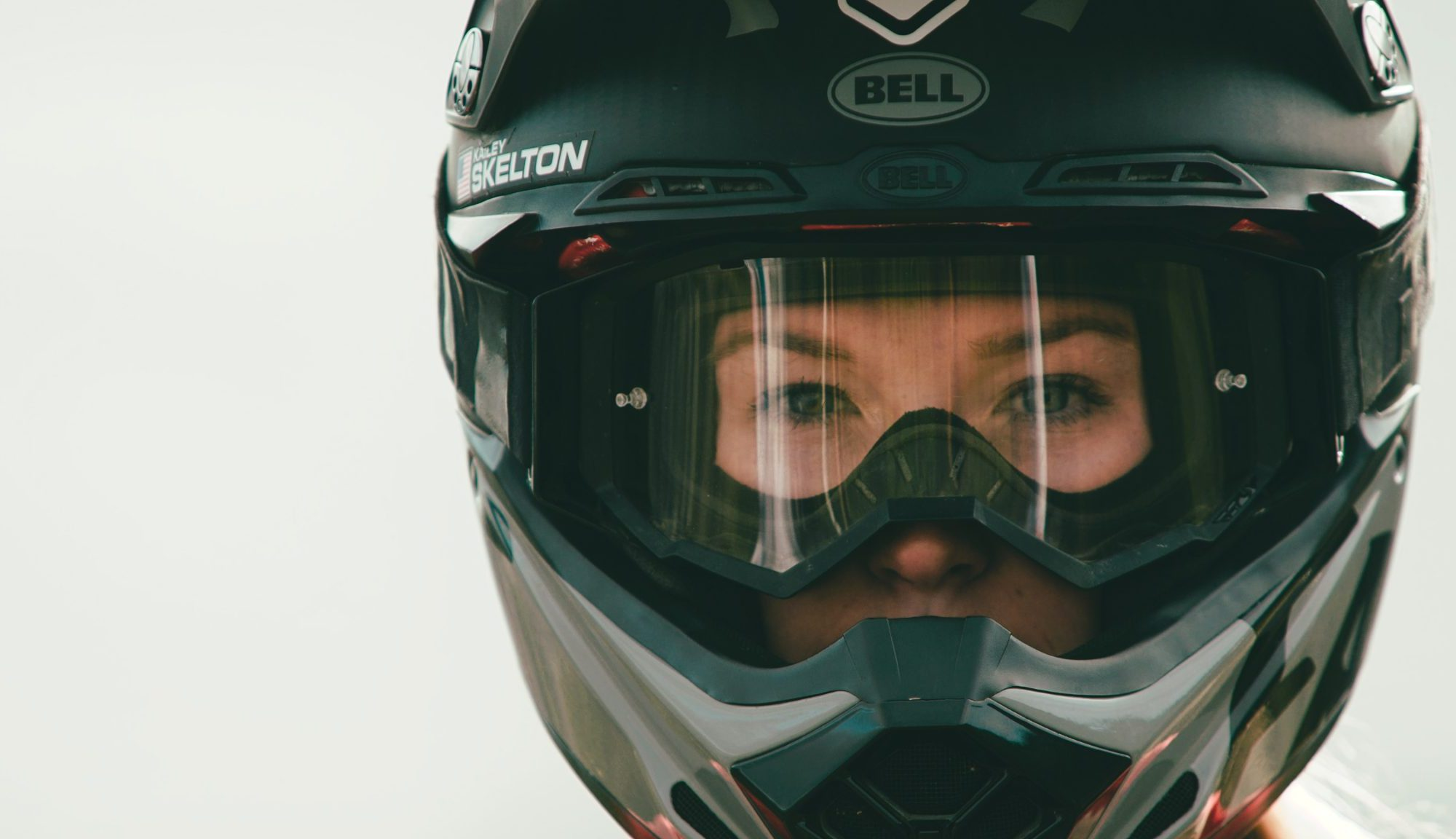 KHS pro MTB team rider Kailey Skelton close up