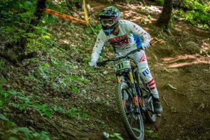KHS Pro MTB team rider Nik Nestoroff riding in Windrock Tennessee.