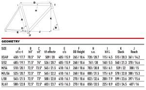 2021 KHS Bicycles Flite 700 geometry