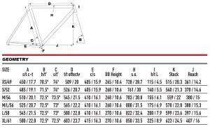 2021 KHS Bicycles Flite Team geometry