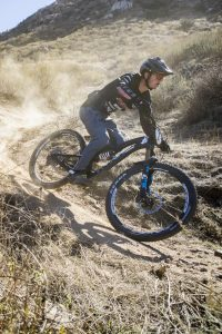 KHS Pro MTB team rider, Nik Nestoroff, racing Enduro at the first round of the Southridge Winter Series 2021. Photo by: Chris Hausen