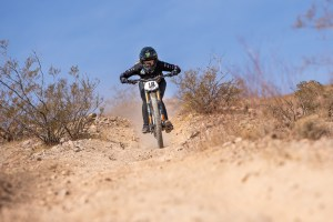 KHS PRo MTB's Kailey Skelton laying down tracks