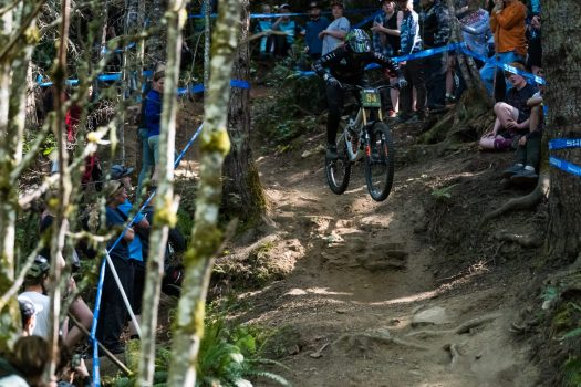 KHS pro MTB Kailey Skelton on track in Port Angeles, WA. at the Northwest Cup.