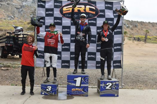 KHS Pro MTB rider Steven Walton taking the first place in the Pro Men's DH race out in Fontana at the final round of the Southridge Winter Series.