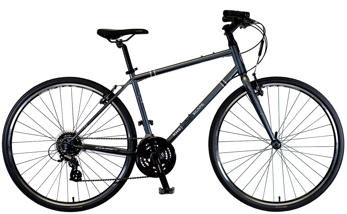 2022 KHS Bicycles Urban Xcape in Dark Silver