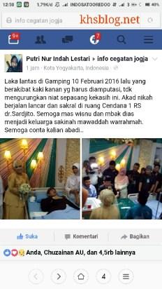pernikahan romantis Mas Windu dan Mbak Dias di RSUP Dr. Sardjito, Yogyakarta hari Sabtu, 12 Maret 2016