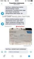 bukti beli tiket lion air via traveloka yang bermasalah di makasar 9 juli 2017