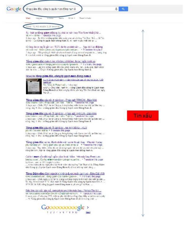 """Kết quả tìm kiếm trên Google ngày 2/3/1014 với cụm từ khóa """"tổng giám đốc công ty gạch men đông nam á"""""""