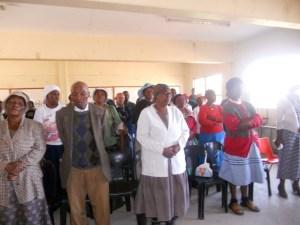Participant feedback meeting Khulumani East Rand
