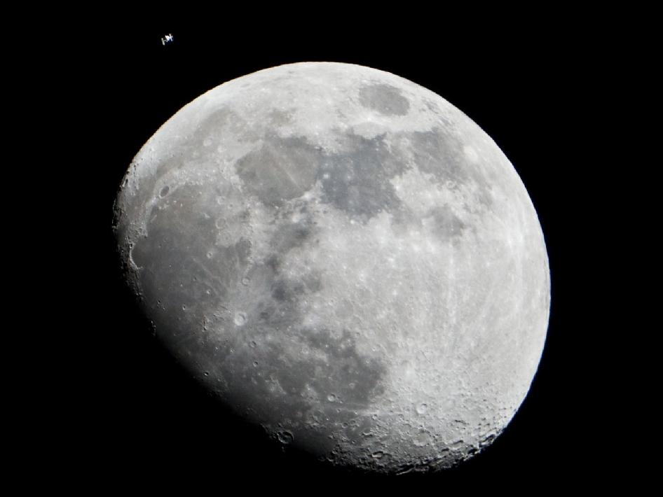 epic view of moon