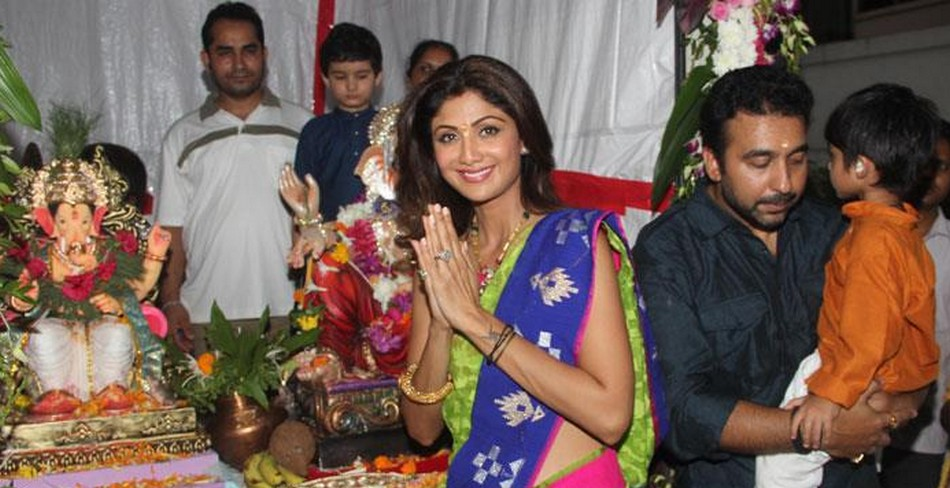 celebrates ganpati