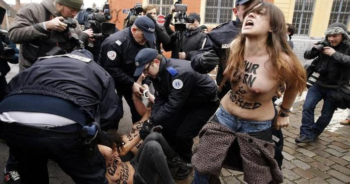 Woman Protesting