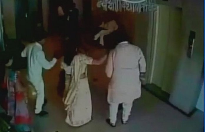 BJP Leader Thrashing a Woman