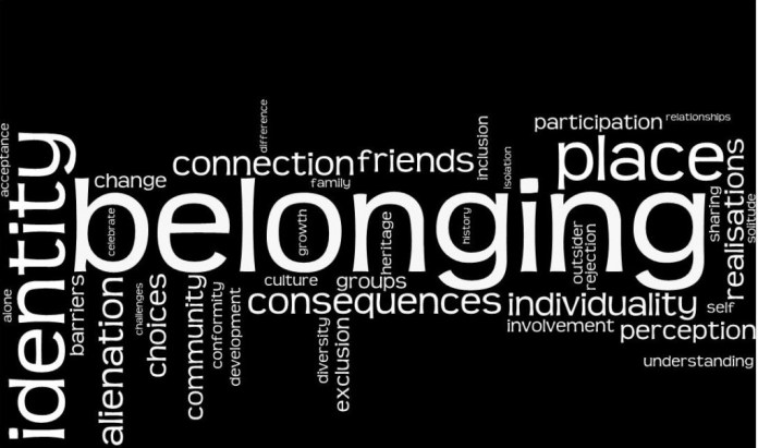 life as we know it - belonging
