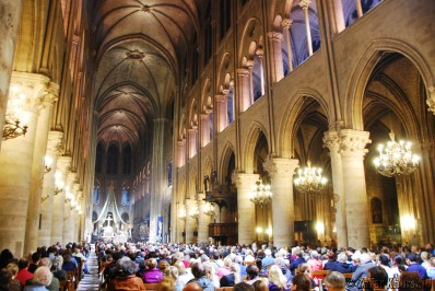 The beautiful halls of the Notre Dame cathedral