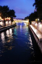 The beautiful Seine under lights