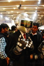 Half of Daft Punk at the Meta Desi booth