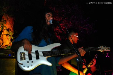 Left to Right: Amar Pandey (Bass/Vocals), Sharan Subrahmanyam (Guitar)