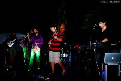 Left to Right: Amar Pandey (Bass/Vocals), Sharan Subrahmanyam (Guitar), Aranya Sahay (Lead Vocals), Kabir David (Guitar), Nirvan Athreya (Keyboards/Vocals)