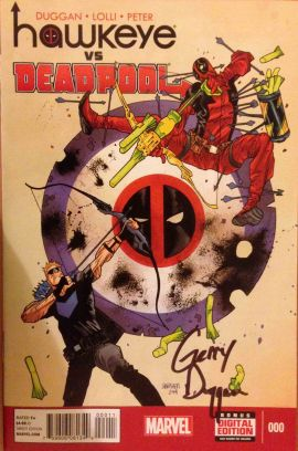 Hawkeye vs Deadpool #0, Signed Copy!