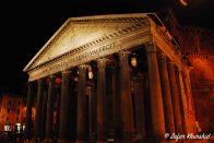 The Pantheon, looking ominous yet regal at night