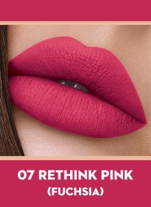 07 Rethink Pink (Fuchsia) Of Sugar Smudge Me Not Liquid Lipstick
