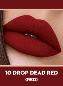 10 Drop Dead Red (Red) Of Sugar Smudge Me Not Liquid Lipstick