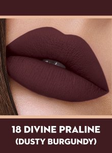 18 Divine Praline (Dusty Burgundy) Of Sugar Smudge Me Not Liquid Lipstick