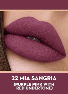 22 Mia Sangria (Purple Pink) Of Sugar Smudge Me Not Liquid Lipstick