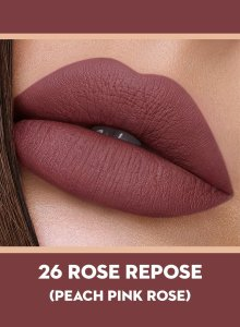 26 Rose Repose (Peach Pink) Of Sugar Smudge Me Not Liquid Lipstick