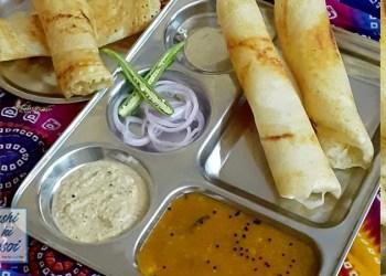 सांबर डोसा रेसिपी   How to Make Delicious Sambhar Dosa at home