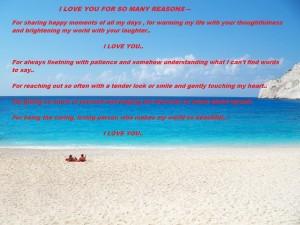 I Love You For So Many Reasons