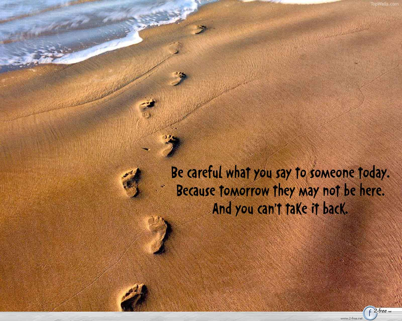 Be Careful What You Say To Someone Today Quotes Khyati Kothari Diy