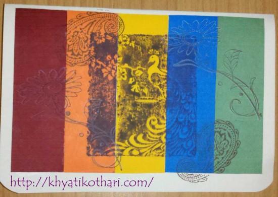 Rainbow Card Front Card45