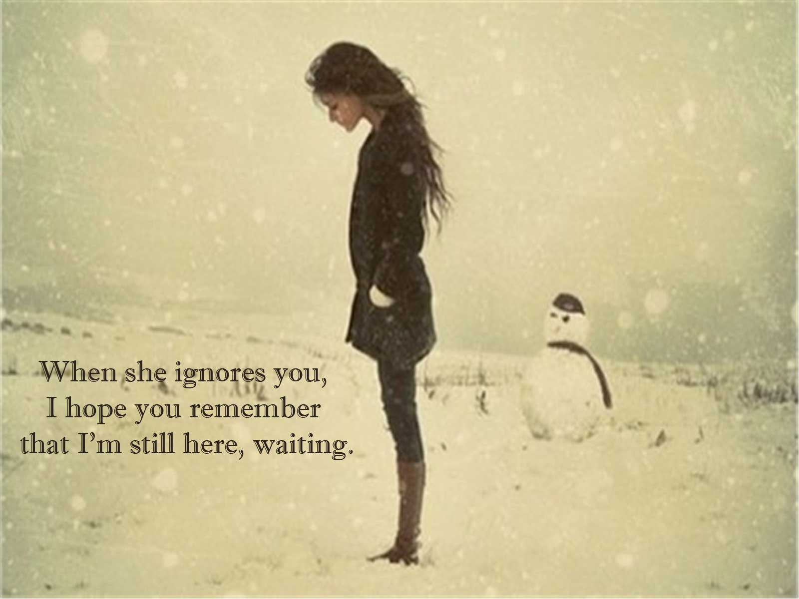 When she ignores you, » Love Quotes » Khyati Kothari DIY