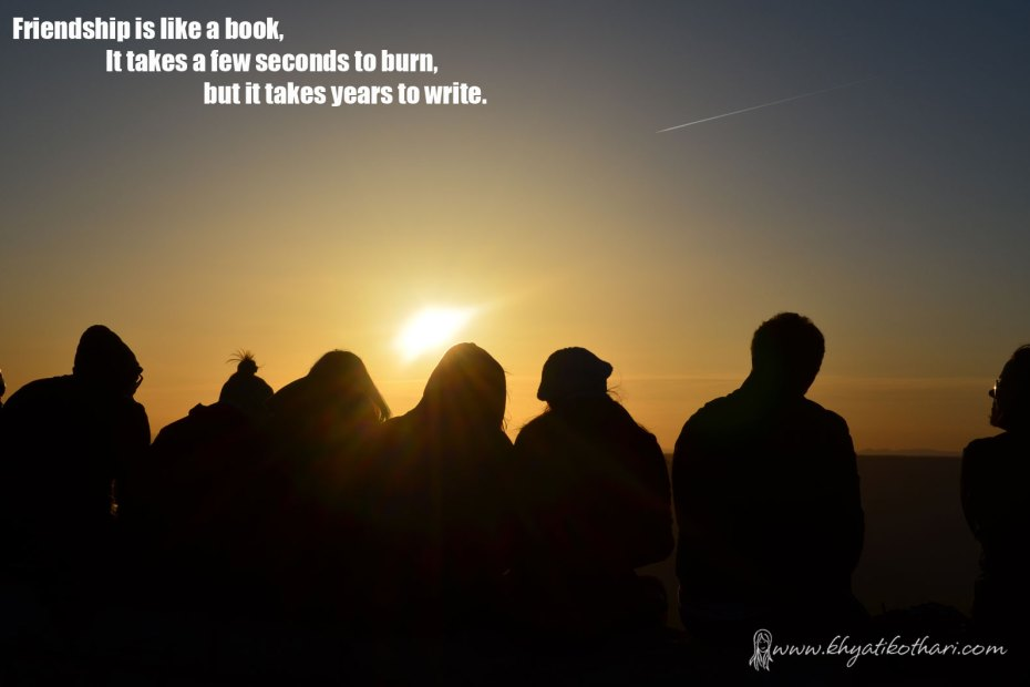 Friendship is like a book
