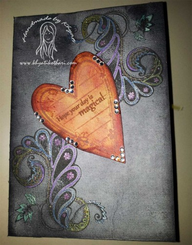 A distressed card FrontCard 80