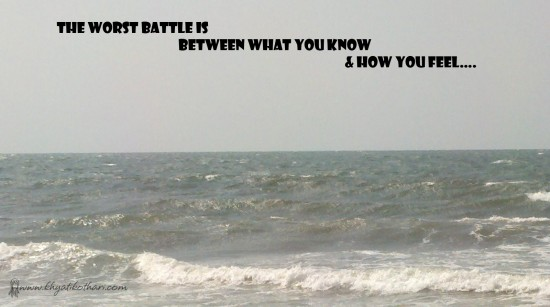 The worst battle is