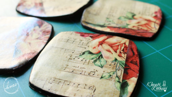 Make your own Clay coasters 2 2