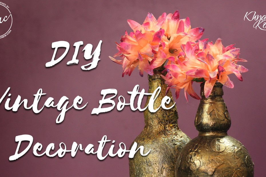 DIY vintage flower vases cover 1